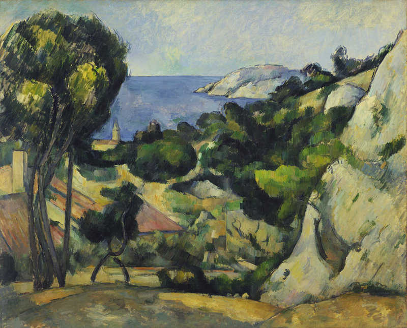 "L'Estaque,"" oil on canvas by Paul Cezanne, 1879-83"