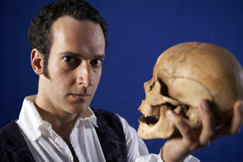 "In ""Wittenberg,"" at Portland Stage Co. through May 19, Rob McFadyen, top, plays Hamlet as a student."