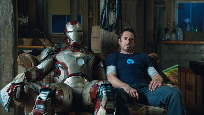 "Robert Downey Jr. has many suits to choose from in ""Iron Man 3,"" the last of this superhero triology."