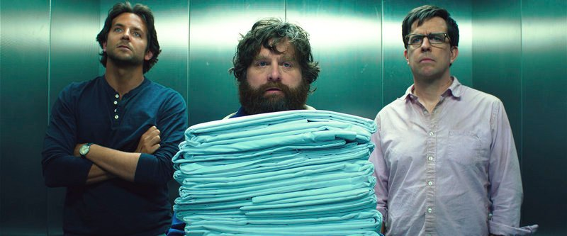 "Bradley Cooper, left, Zach Galifianakis and Ed Helms in ""The Hangover 3,"" one of the film franchises that were produced by Legendary Entertainment."