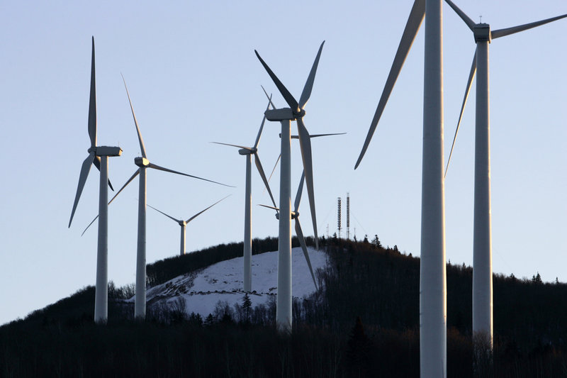 Wind turbines are seen on Mars Hill Mountain in 2007. Maine Audubon and the Natural Resources Council of Maine are resisting bills that would give all Mainers a chance to participate fully in the process of siting wind power projects, a reader says.