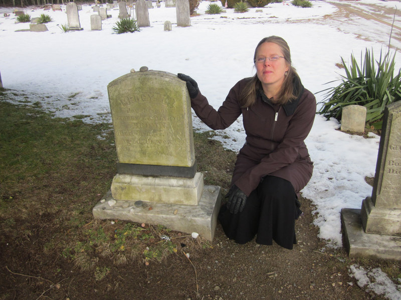 "Author Sarah Thomson was filmed at the grave of the real-life Mercy Brown and at a nearby home in Exeter, R.I., by a Travel Channel crew for the premiere, airing Thursday, of a new series called ""Monumental Mysteries."""