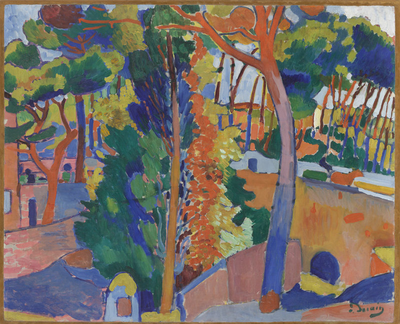 """Bridge over the Riou,"" oil on canvas by Andre Derain, 1906"