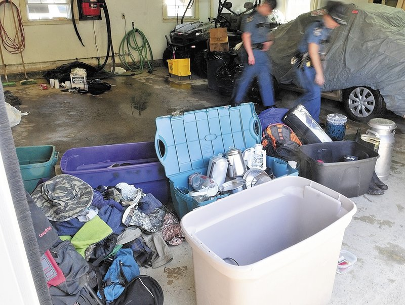 In Skowhegan Saturday, State Police displayed items recovered from the campsite of Christopher Knight, who admits carrying out more than 1,000 burglaries.