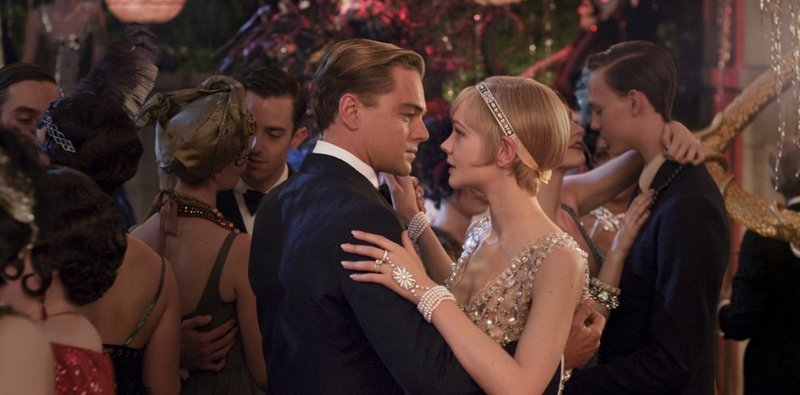 Leonardo DiCaprio with Carey Mulligan as Daisy, the object of Gatsby's obsession.