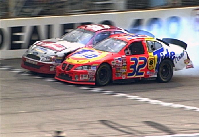 Ricky Craven of Newburgh, right, won the closest finish in Sprint Cup history in 2003, beating Kurt Busch by .02 of a second at Darlington, the scene of this week's race.