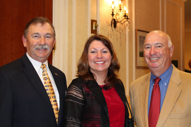 Carl Pendleton, left, president and CEO of Sweetser, with board chair Mary Turgeon and Henry Deegan, corporator and friend of the organization.