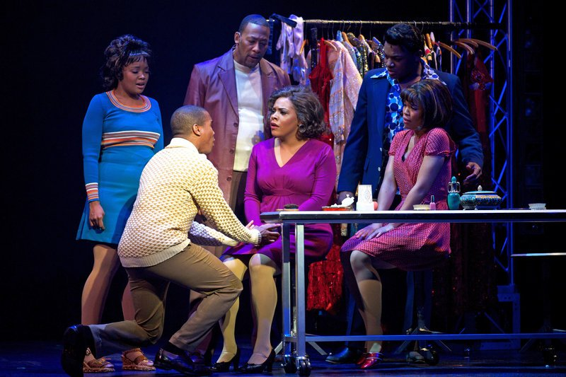 "A dramatic moment in the musical ""Dreamgirls,"" running June 5-22 at Maine State Music Theatre."