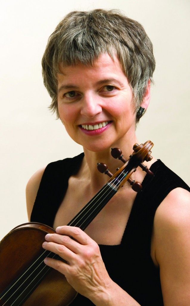 Violinist Eva Gruesser, real-life wife of Midcoast Symphony conductor Rohan Smith, guests with the orchestra this weekend.