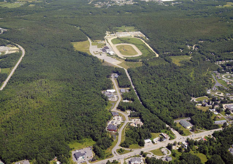 Scarborough Downs nestles in a 500-acre parcel for which a village-type development has been proposed. The racetrack's owners are hoping the project will reopen the possibility of a racino.