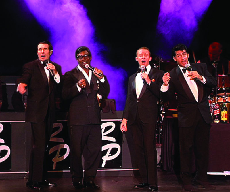"The Rat Pack harmonizes in ""The Rat Pack is Back!"", which opens Thursday at the Ogunquit Playhouse."