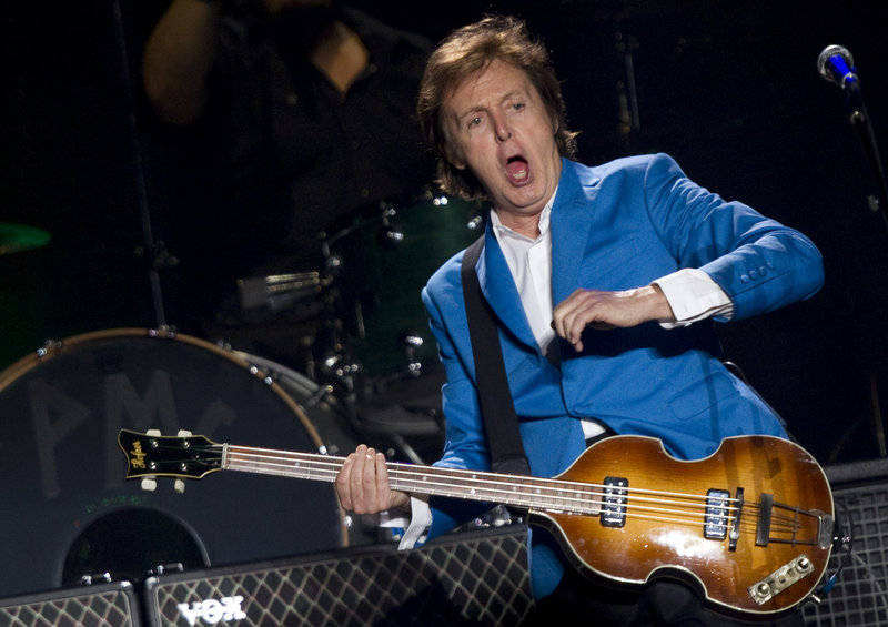 "Paul McCartney, shown in a 2010 file photo, was to launch the North American portion of his ""Out There"" tour in Orlando, Fla., Saturday."