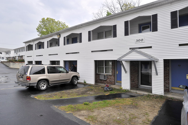 This apartment complex on Route 1 in South Portland will be inspected later this week. It is owned by East Coast Hospitality and managed by MaineLy Property Management.