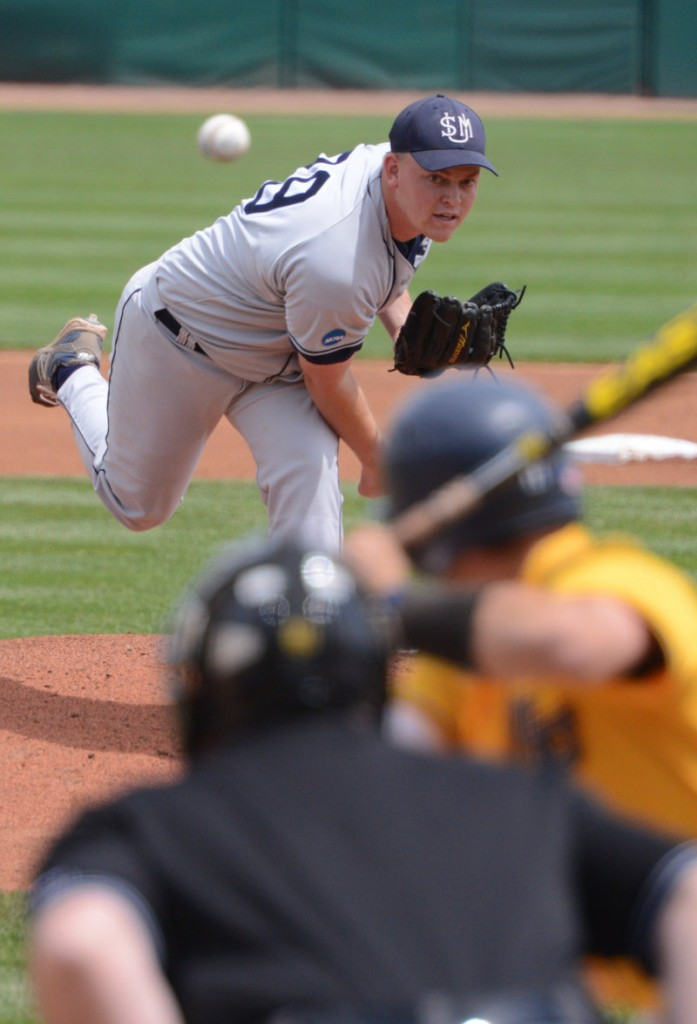 Ryan Yates allowed only one earned run in six-plus innings before getting relief help from Andrew Richards in USM's victory.