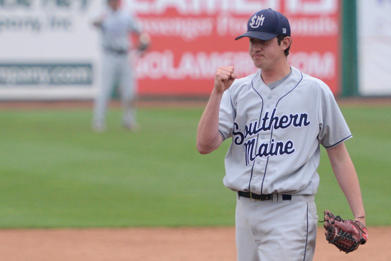Andrew Richards was a marathon man for USM, pitching 12 innings in the win over Ithaca, then coming back an hour later to start against Linfield.