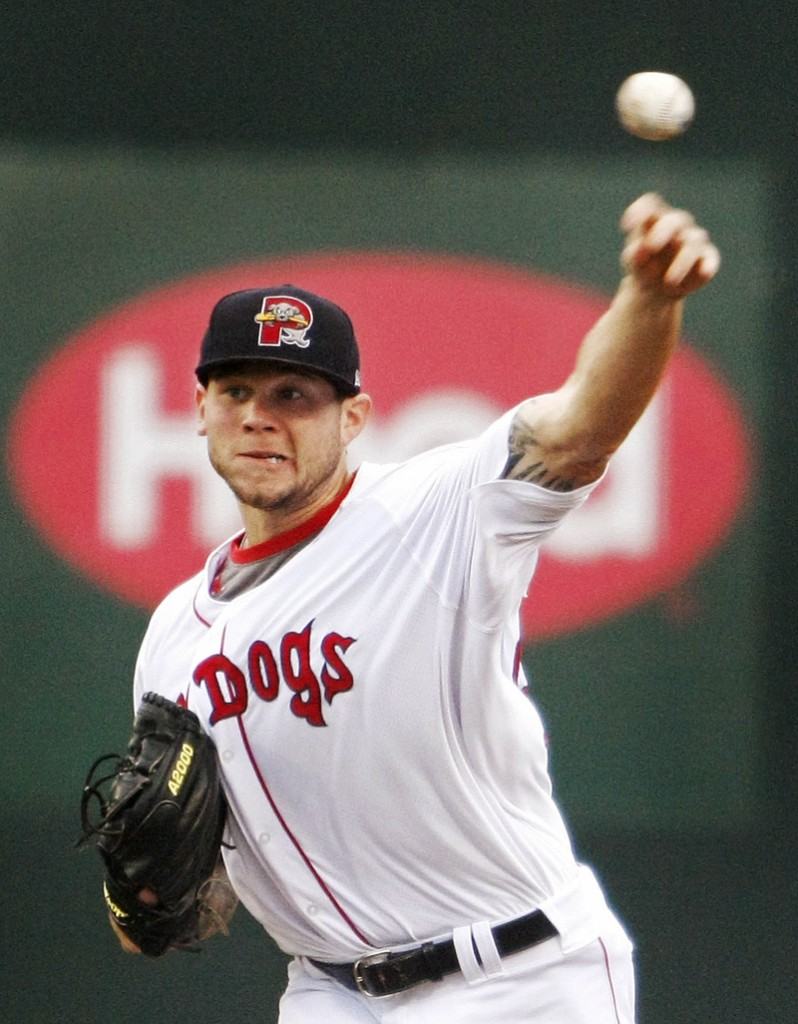 Drake Britton, just named the Eastern League's Pitcher of the Week, threw a second straight shutout – a 2-0 win over the SeaWolves Tuesday. He's given up just one earned run in his last 25 innings, and is likely bound for Pawtucket soon.