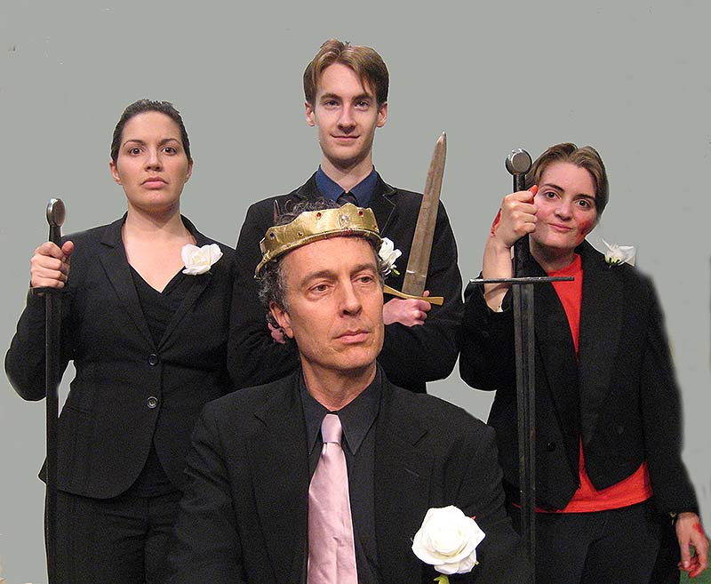 Kara Haupt, Tristan Rolfe, Matt Power and Jessica Labbe will perform Shakespeare in the park.