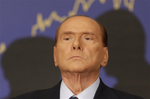Former Italian Premier Silvio Berlusconi is shown in a Sept. 27, 2012, photo.
