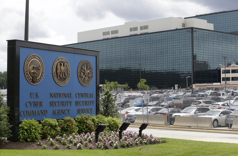 A sign stands outside the National Security Administration (NSA) campus in Fort Meade, Md., Thursday, June 6, 2013. Top U.S. intelligence officials said Saturday that information gleaned from two controversial data-collection programs run by the National Security Agency thwarted potential terrorist plots in the U.S. and more than 20 other countries. (AP Photo/Patrick Semansky)