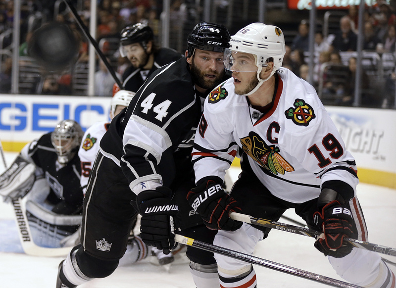 The captain: Jonathan Toews has one goal and eight playoff assists.