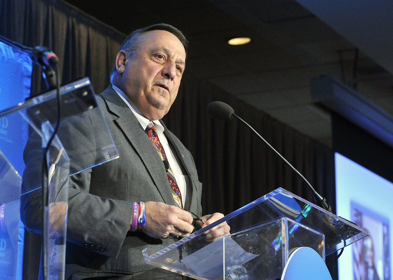 """Brian Duff, political science professor, on Gov. Paul LePage, above: """"For a sizable chunk of the electorate, his blunt talk is not a problem and is probably an asset. He speaks from his heart."""""""