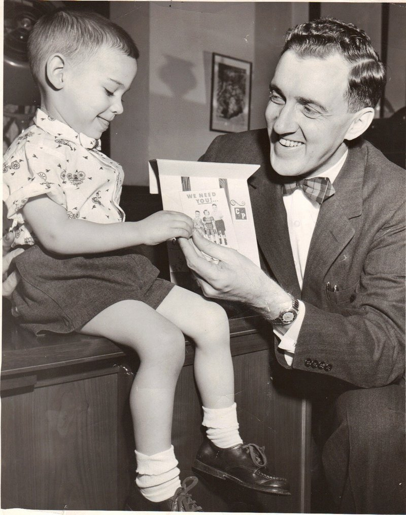 Marty Macisso was the state's poster boy for cerebral palsy in the mid-1950s, meeting with Gov. Edmund Muskie.