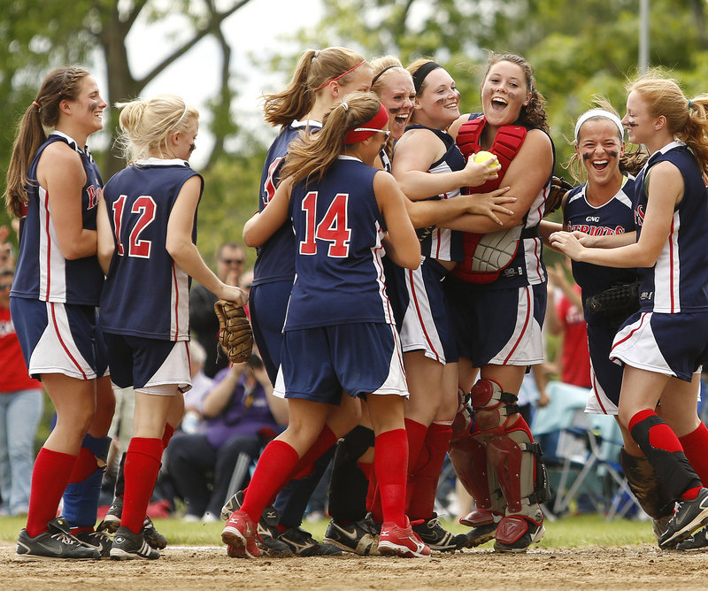 Gray-New Gloucester kept getting better and better as the softball season went on, and Saturday the Patriots reached the Western Class B final by upsetting Cape Elizabeth, 2-1.