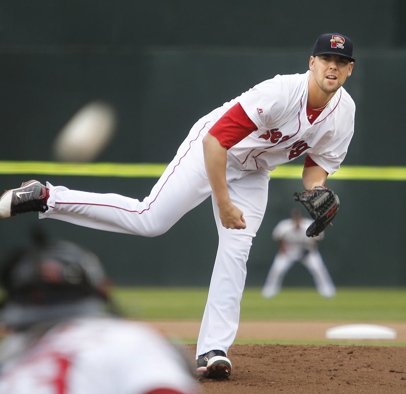Anthony Ranaudo overpowered the Erie SeaWolves Thursday night at Hadlock Field to improve his record to 7-1 and maybe enhance his chances for a promotion to Triple-A Pawtucket.