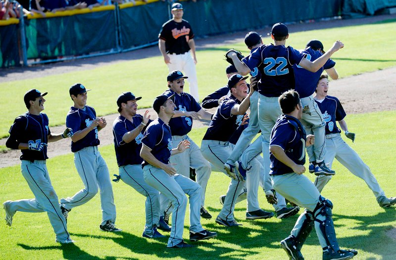 Chuck Chadbourne, the first-year York baseball coach, wanted to establish the sport's identity at the school. Well, that didn't take long, and the Wildcats celebrated a first baseball title in 42 years with their 4-1 victory against Winslow in the Class B final at St. Joseph's College.