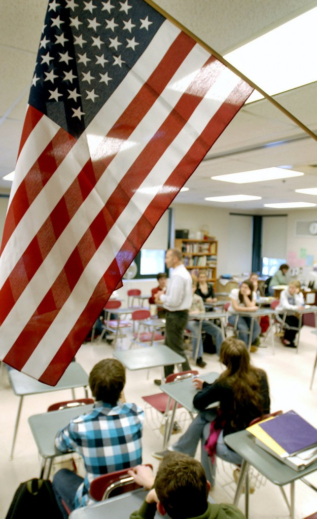 A teacher leads a class at Gorham High School in 2008. A reader says the Gorham School Department's 2013-14 budget trims spending in ways that will hurt students.