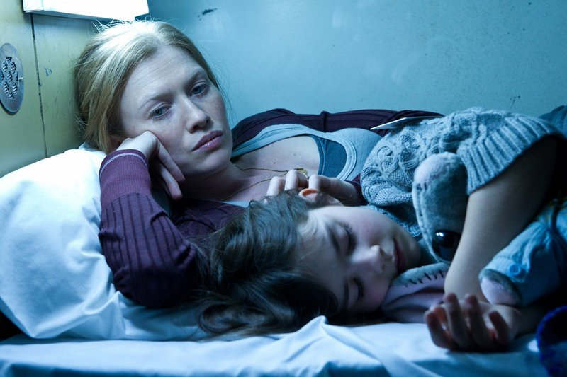 "Mireille Enos and Sterling Jerins in a scene from ""World War Z."""