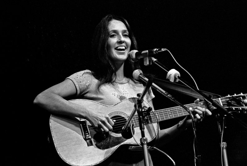 Joan Baez performs in Hamburg, Germany, in 1973.