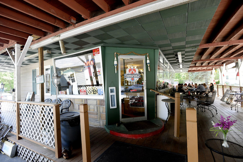 Diners can eat inside, on the deck or in their cars at Cameron's Lobster House, surely one of a very few – if not the only – drive-in lobster shacks in the country.