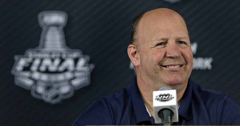 Boston's Claude Julien will have even more to beam about if his Bruins can win two more games against the Blackhawks.