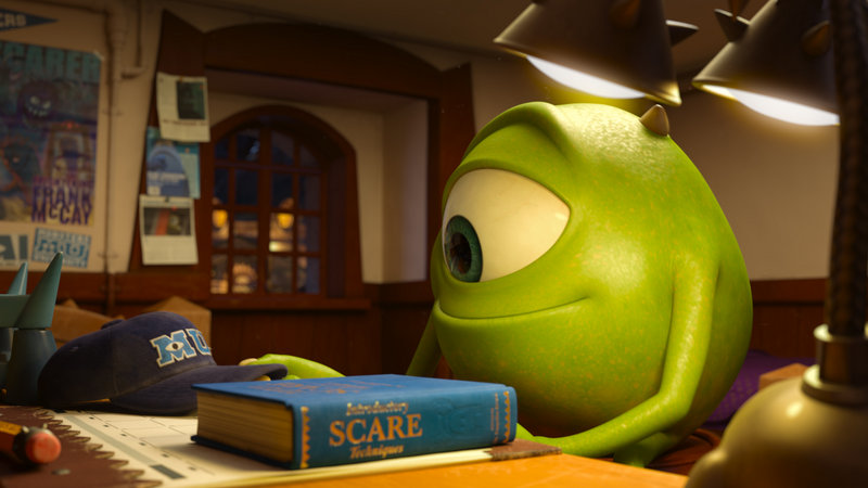 """Mike,"" voiced by Billy Crystal, appears in a scene from the weekend's box office fave, ""Monsters University."""