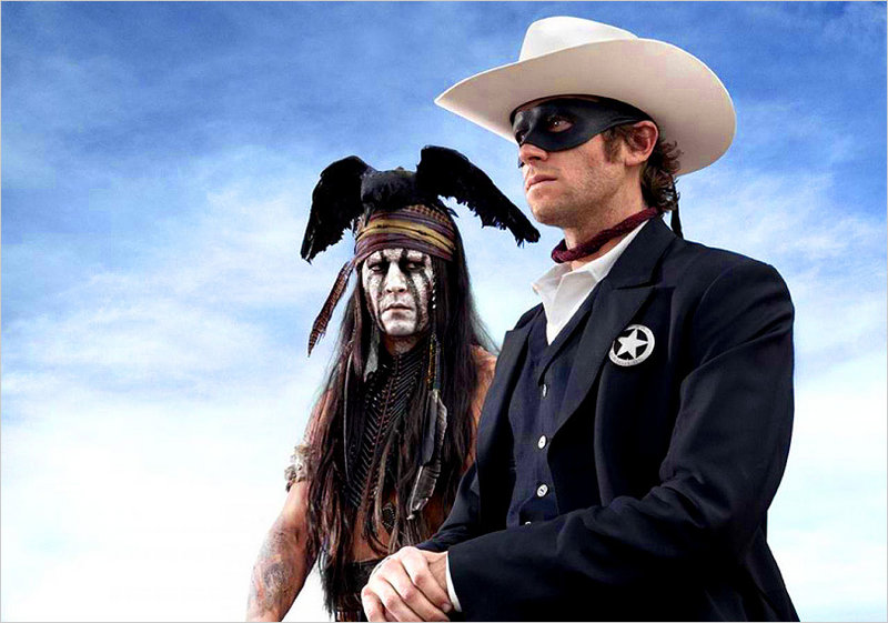 "Johnny Depp and Armie Hammer are Tonto and the Lone Ranger in a new adaptation of ""The Lone Ranger."""