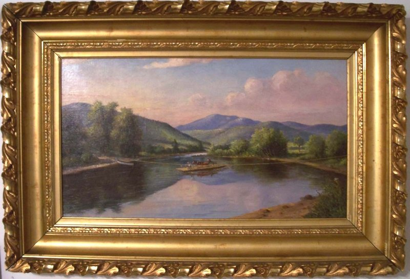 """Kendall's Ferry on the Androscoggin, Bethel"" by Delbert Dana Coombs."