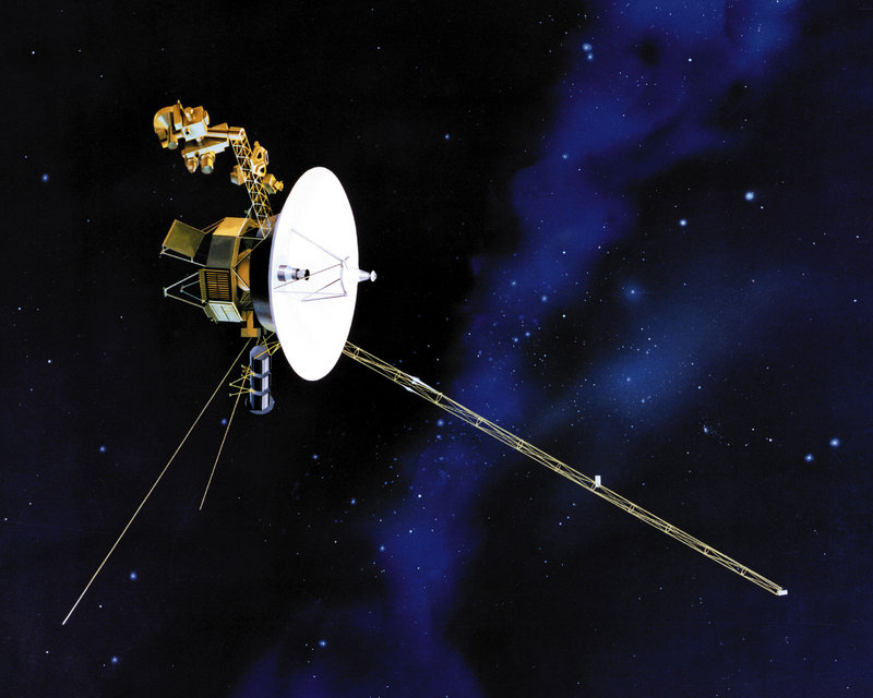 Rendering shows one of NASA's twin Voyager spacecraft. Scientists had assumed that Voyager 1 would have exited the solar system by now.