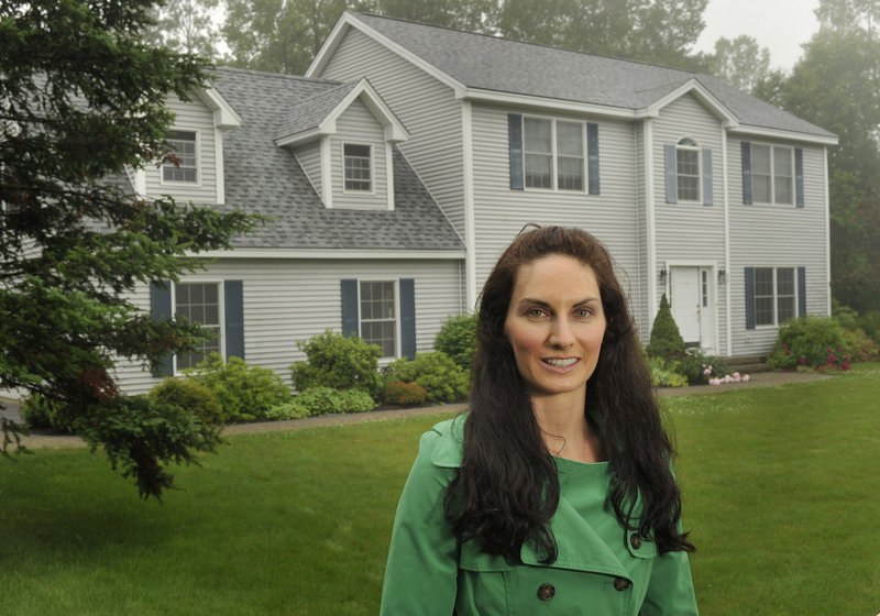 Jennifer Babich and her family recently purchased a home in Freeport after moving to Maine from California.