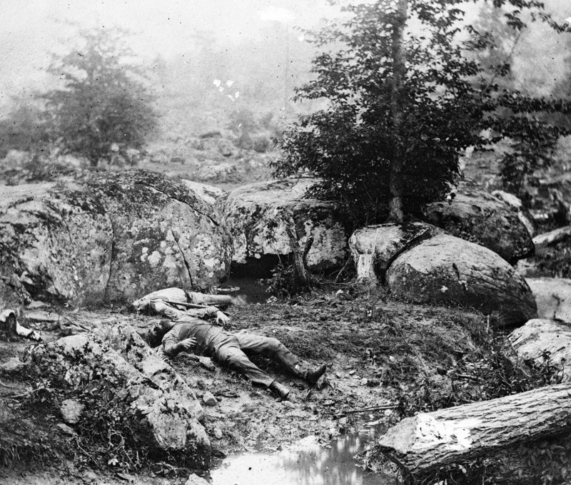 The fields and hills around Gettysburg are littered with dead soldiers and horses, a gruesome landscape described by Capt. William Livermore in a letter to his brother. The Milo man served on the Color Guard with the 20th Maine.