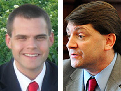 Rep. Alex Willette, R-Mapleton, left, and Sen. Troy Jackson, D-Allagash, announced they are running for Maine's 2nd Congressional District seat currently held by Rep. Mike Michaud.