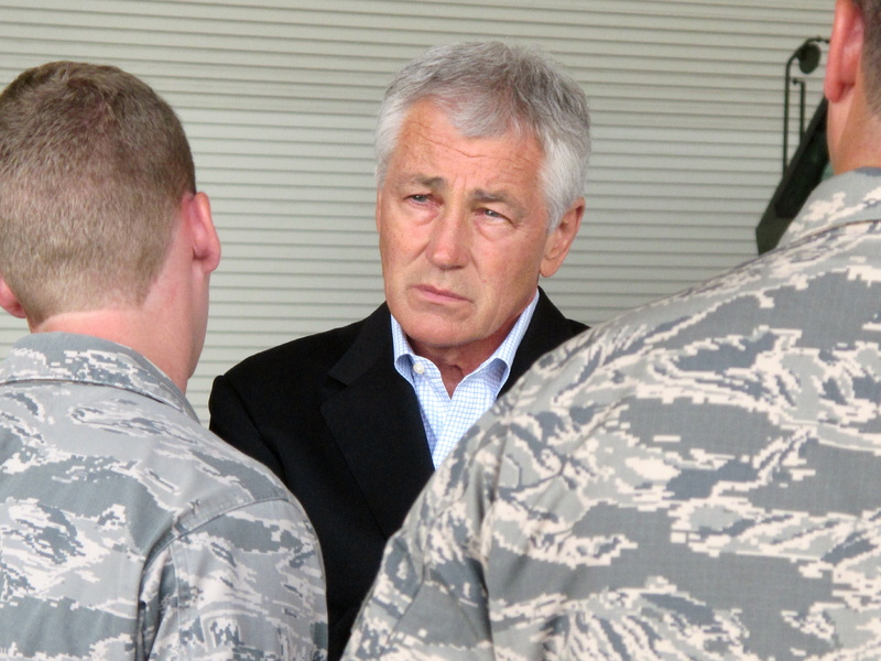 Defense Secretary Chuck Hagel said Wednesday that automatic budget cuts would hit the Pentagon hard.