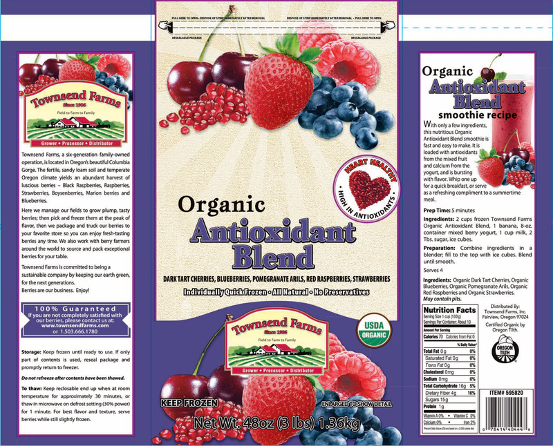 The FDA proposed new steps Friday to ensure that imported fresh produce, cheeses and other foods, such as this Organic Antioxidant Blend, packaged under the Townsend Farms label, are safe. The Townsend Farms berry blend was linked to a hepatitis A outbreak.