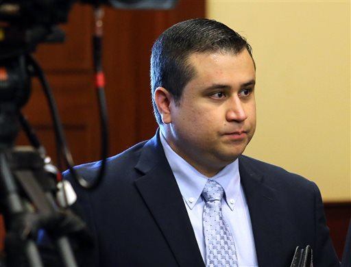 George Zimmerman arrives in the courtroom for his trial at the Seminole County Criminal Justice Center, in Sanford, Fla., on Friday.