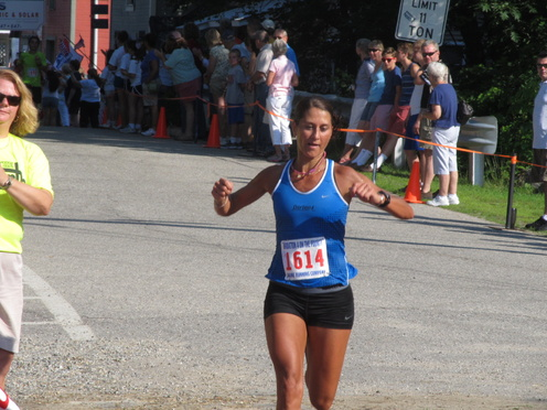 Mary Pardi, 43, of Falmouth was the fastest woman at Thursday's four-mile race in Bridgton.
