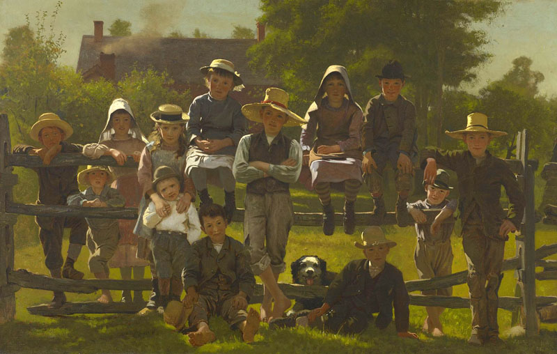 """John George Brown, """"Watching the Circus"""" (1881), oil on canvas"""