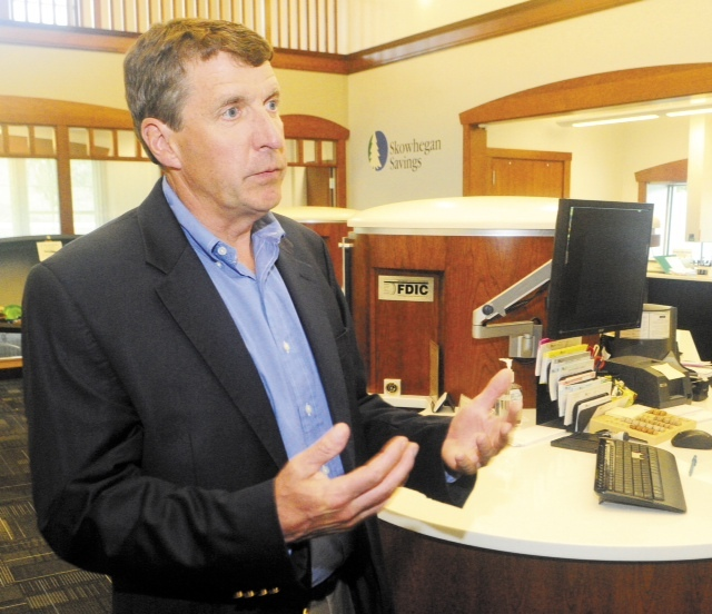 John Witherspoon, president of Skowhegan Savings, says the company will gather feedback about dialogue banking in its Augusta branch before trying it in other locations.