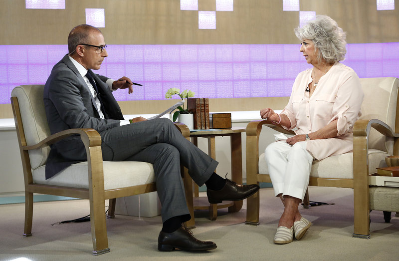"Celebrity chef Paula Deen appears on NBC's ""Today"" show with Matt Lauer last week."