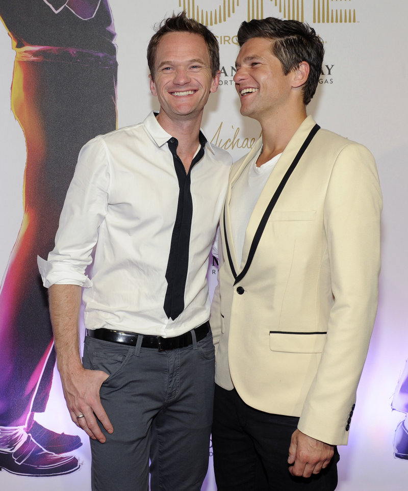 Actor Neil Patrick Harris, with his partner David Burtka, supports Christine Quinn in the race for mayor of New York City.