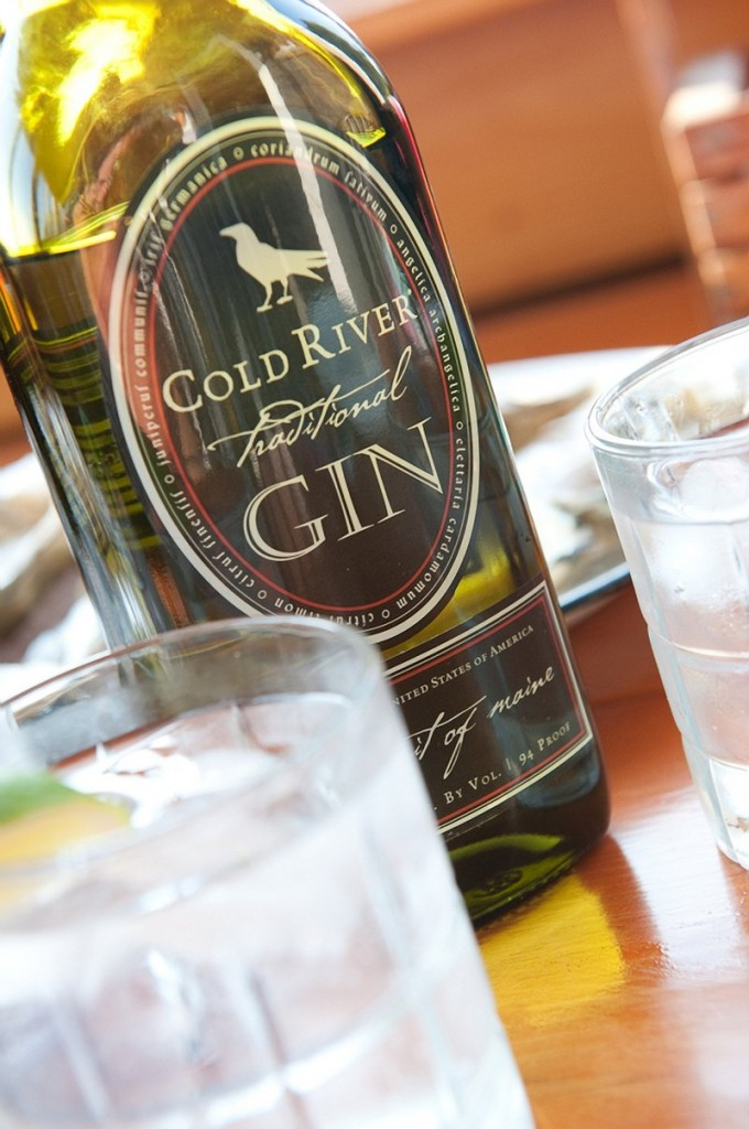 Cold River gin, made by Maine Distilleries in Freeport.